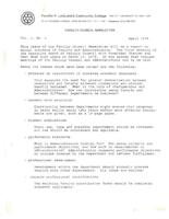 Faculty Council Newsletter, 1978 April