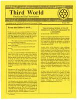 Newsletter of the Third World Faculty and Staff Association of LaGuardia Community College, 1990 Winter