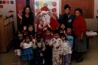 Early Childhood Learning Center Children with Santa Clause