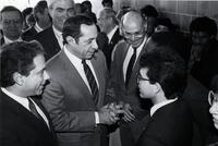 New York State Governor Mario Cuomo's visit to LaGuardia Community College