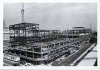 Construction of the E Building May 9 and 22, 1989