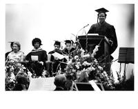 Congresswoman Shirley Chisholm (second from left) at LaGuardia Community College Graduation -1973