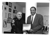 President Raymond Bowen and Security Officer at LaGuardia Community College - Joseph Gallo