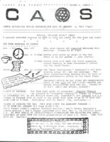 Campus Activites Office Schedule January 3, 1972