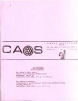 Campus Activities Office Schedule March 20, 1972